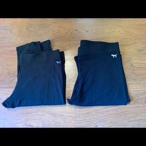 Two pairs of Victoria secret black leggings